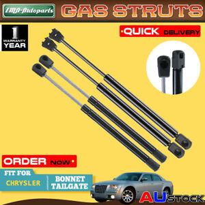 4x For Chrysler 300 300C 2005-2010 Front Bonnet & Rear Tailgate Gas Struts