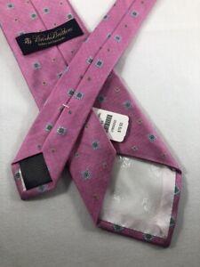 NEW BROOKS BROTHERS Silk Tie ~ $80 NWT Pink Blue Green Geometric Pattern 4549