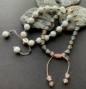 Lola Rose Tagged Banded White Shell/ Stone Pastel Gemstone Bracelet Job Lot