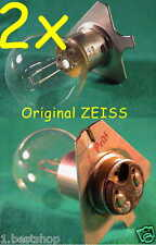 2x ZEISS 6V 30W BA20d OPMI HNO MIKROSKOP OPHTHALMOSKOP OP LAMPE LEUCHTE MED LAMP