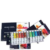 18/24Colors Acrylic Paint Set 5 ml Tubes Artist Draw Painting Rainbow Pigme V7U4