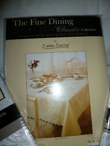 Emma Barclay white oval tablecloth with 8 napkins BNWOT unopened