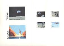 Ghana #1158-1163 Space, Apollo 11 4v & 2v S/S Imperf Proofs in Folder