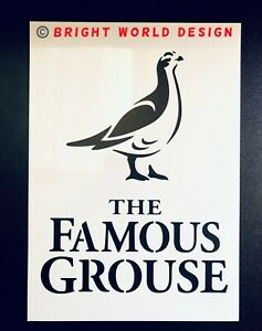 The Famous Grouse A3 LARGE Stencil 2 Variations Airbrush Crate Sign Wall Whiskey