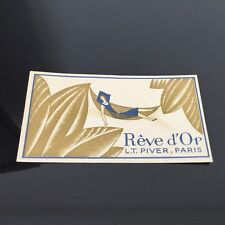 L.T PIVER - REVE D'OR Carte Parfumée Ancienne - French Perfume Card