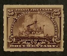 "Travelstamps: 1898 US Documentary Stamps Scott #R169 ""Battleships"" Mint NG"