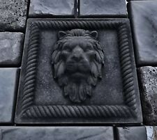 Lions Head Concrete Molds Bas Relief (2 pcs)