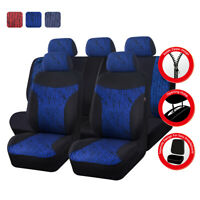Universal Premium Blue Car Seat Covers Fit Split Rear For Truck SUV Honda Sedan
