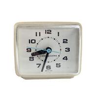VTG General Electric Model 7371 Alarm Clock Ivory Mid-Century USA TESTED WORKS