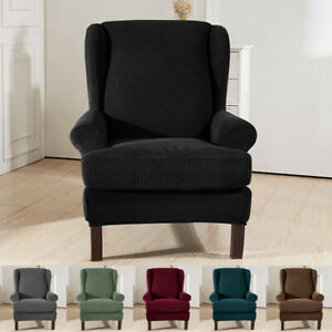Stretch Elastic Wingback Armchair Cover Wing Chair Cover Slipcover Protector