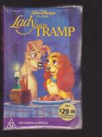 LADY AND THE TRAMP  WALT DISNEYS  BLACK DIAMOND VHS PAL VIDEO~A RARE FIND
