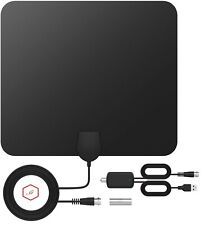 JT 120 Miles Long Range Indoor Digital TV HDTV Flat Antenna VHF/UHF/1080P