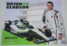 2016 Bryan Clauson Jonathan Byrd's Honda Dallara Indy 500 Indy Car postcard
