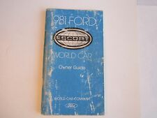 1981 FORD ESCORT CAR OWNER'S MANUAL