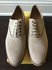 NWB John Lobb Savannah Beige Linen Canvas Shoes  UK 9E ~10 US Made in Italy
