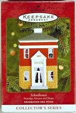 HALLMARK CHRISTMAS ORNAMENT 2000 Schoolhouse DON PALMITER Handcrafted #17