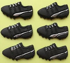 6 FONDANT football boots,edible cupcake toppers,Birthday party decorations