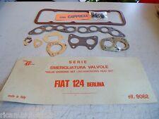 FIAT 124 BERLINA - SERIE GUARNIZIONI SMERIGLIO CON PARAOLIO VALVOLE