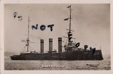 WW1 Monmouth Class Armoured Cruiser HMS Suffolk Royal Navy Abrahams & Sons photo