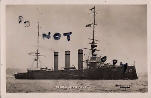 WW1 Monmouth Class Armoured Cruiser HMS Suffolk Royal Navy Abrahams & Sons photo