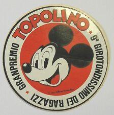 VECCHIO ADESIVO / Old Sticker FUMETTI TOPOLINO MICKEY MOUSE (cm 8)