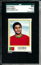 1974 Panini #396 Eusebio SGC 55 = PSA 4.5 Classic Soccer card - SEE OTHER CARDS