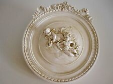 BEAUTIFUL DETAIL FRENCH COUNTRY DOUBLE CHERUBS  WALL HANGING  PLAQUE./PLATE
