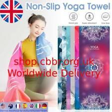 Yoga Towel(65x188cm) Absorbent Non-Slip Yoga Mat Towel with Grip Dots Bikram Pil