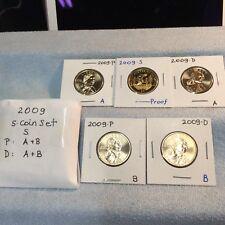 2009 P-D-S  Sacagawea Dollar 5-coin Set - UNC & Proof