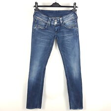 Pepe Jeans Venus Damen W27 L34 Blau Slim Straight Low Waist Stretch Distressed