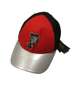 NWD Polo Ralph Lauren Men's Red/Black Multi P-Wing Logo Graphic Baseball Hat