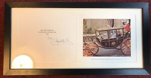 Royal Christmas Card, Framed And Signed, Elizabeth R, Queen Mother
