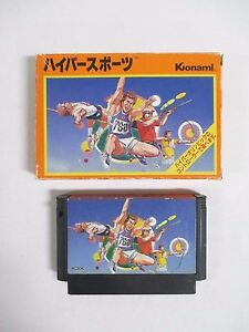 HYPER SPORTS -- Boxed. Famicom, NES. Japan game. Work fully. 10429