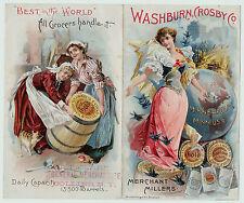 RARE Advertising BROCHURE Folding Trade Card Washburn Crosby Gold Medal Flour