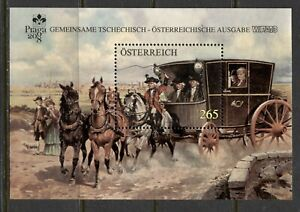 AUSTRIA 2008, MAIL COACH, PRAGUE INT. STAMP EXHIBITION, Scott 2171 S/S, MNH