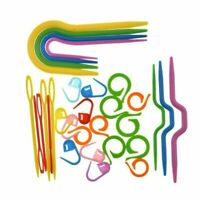 Plastic Cable Needles Stitch Markers Set for Knitting Crocheting Sewing 53Pcs