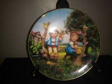 "Mj Hummel Danbury Mint Collector Plate ""Apple Tree Boy and Girl"" Plate #Bb7639"