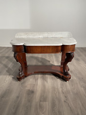 More details for stunning typical victorian marble top washstand in mahogany circa 1840