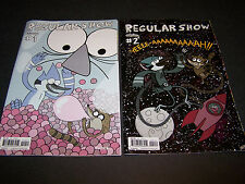 REGULAR SHOW #1 E #2 B SET/LOT CARTOON NETWORK TELEVISION TV MORDECAI RIGBY WOO!