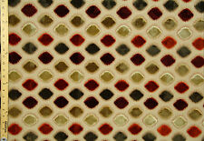"""Vintage Heavy Upholstery Embroidered Queen 58"""" By The Yard"""
