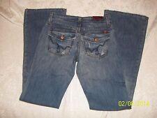 NWT BLUE 2 BLUE TWO LT WASH BACK FLAP MIDRISE JEANS W 24 / 0 RET $108.99 USA