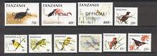 Tanzania 1990 Birds/Raptor 'Official' 10v set (s2541)