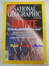 rivista NATIONAL GEOGRAPHIC VOL.13 N.1/2004 Marte c'e' vita sul pianeta Rosso ?