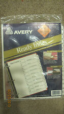 """15 Table of Contents Index Dividers By Avery use w/ Laser Printer NEW! 8.5""""x11"""""""