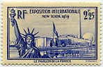 "FRANCE N°426 ""EXPOSITION INTERNATIONALE DE NEW YORK, 2 F 25""NEUF xTB"