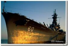 Navy Battleship USS Alabama - Military Warship POSTER