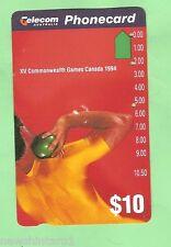 1994 Commonwealth Games $10 Shotput Phonecard