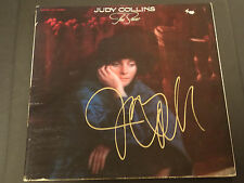 JUDY COLLINS SIGNED AUTOGRAPHED LP RECORD ALBUM TRUE STORIES RARE