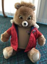 Vintage Teddy Ruxpin 80's Talking Toy Bear Fire Safety Working