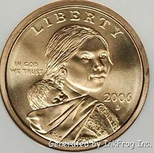 2006 Sacagawea P & D Dollars from mint sets No Reserve